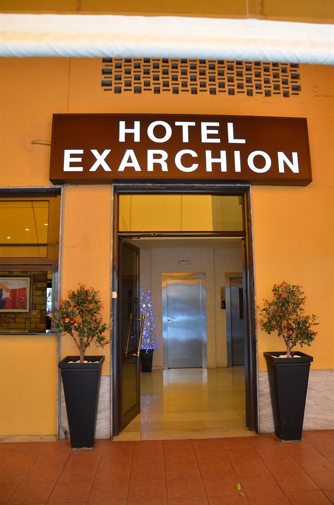 Exarchion Hotel entrance